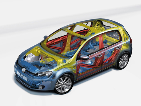 Volkswagen Golf - самый безопасный автомобиль 2009 года