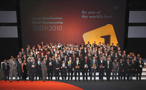 Преданность своему делу как залог успеха: Volkswagen награждает победителей Международного чемпионата по сервису 2010